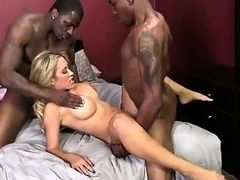 2 black dudes tag teamed Capri Cavanni