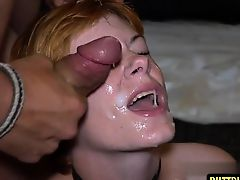 Hot pornstar bukkake and facial